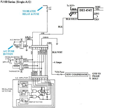 1998 A C Compressor Wiring Diagram by V8 Compressor With Toyota A C Wiring Diagram Ih8mud