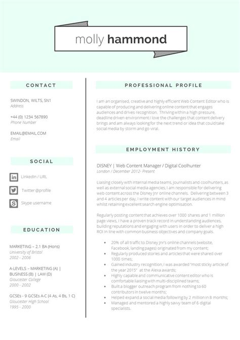 Excellent Cv Layout Template 13 slick and highly professional cv templates guru