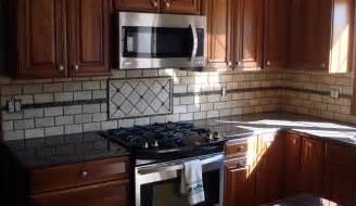 Tile Borders For Kitchen Backsplash Backsplash With Glass Mosaic Border New Jersey Custom Tile