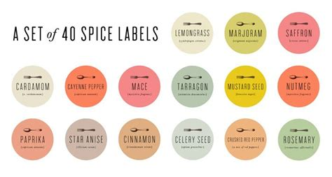 Spice Rack Stickers by 25 Best Ideas About Spice Labels On Spice Jar