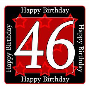 46 happy birthday party supplies - 46th birthday coaster