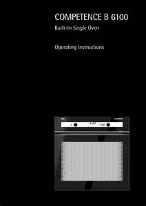 Aeg Competence B6100ew Oven Download Manual For Free Now