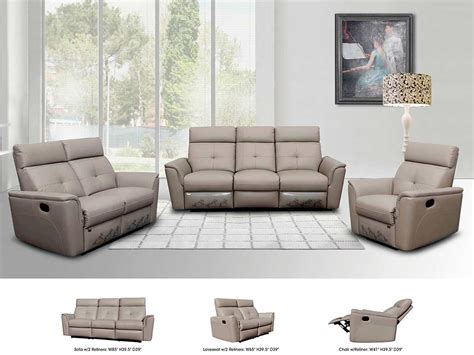 grey reclining sectional reclining grey leather sofa ef501 leather sofas