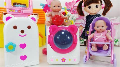 baby doll food refrigerator kitchen  washing machine
