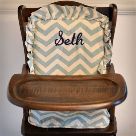 wooden highchair cover chevron back seat cushion for