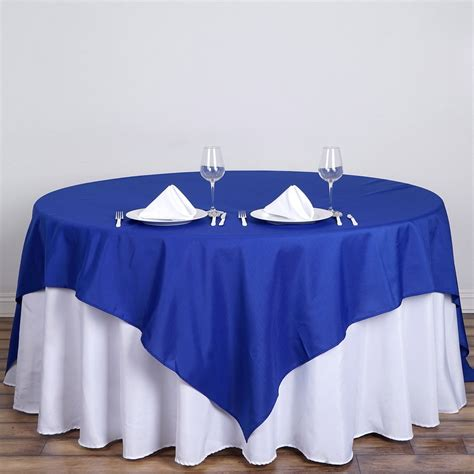 royal blue premium square polyester tablecloth
