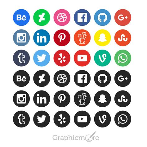 Social Media Icons Vector 100 Best Free Vector Icons Sets Free