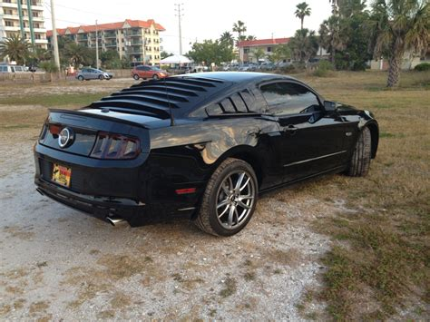 Rear Window Louvers  Mustang Evolution