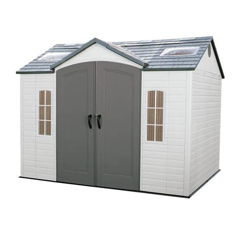 outdoor sheds home depot lifetime 10 ft x 8 ft outdoor garden shed 60005 the