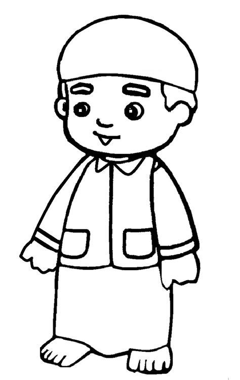 Kami susun menjadi beberapa tema seperti rumah, tokoh kartun, mewarnai orang dan yang lain nya. 10 Gambar Mewarnai Anak Muslim Untuk Anak PAUD dan TK