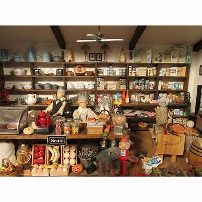 General Diorama Victorian Miniature Country Doll Stores