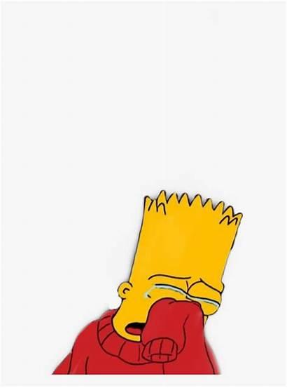 Bart Simpson Sad Depressed Drawing Depression Sadness