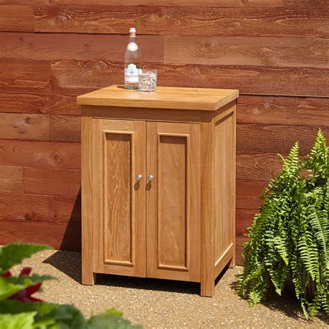 signature hardware  lexington teak outdoor cabinet ebay