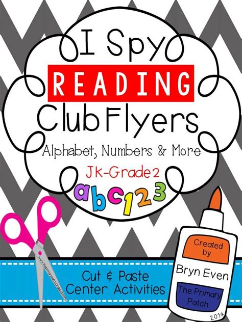flyers numbers i spy reading club flyers alphabet numbers more