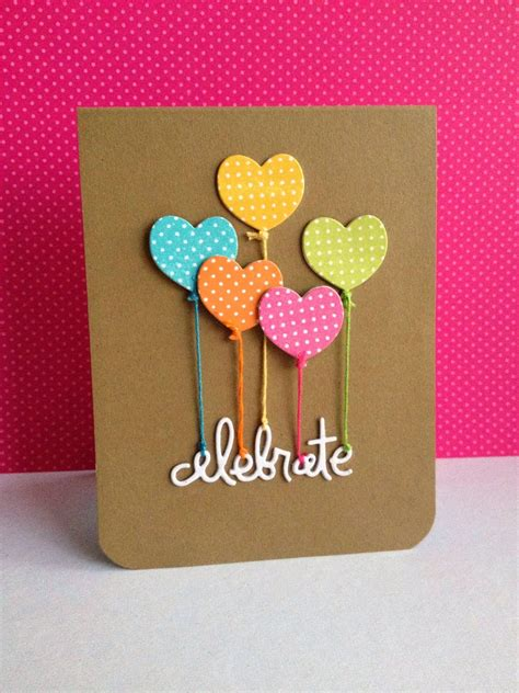 See more ideas about birthday cards, homemade birthday cards, cards. A Little Bit of Patti: 5 Great Ideas for Cute and Easy Balloon Themed Handmade Greeting Cards