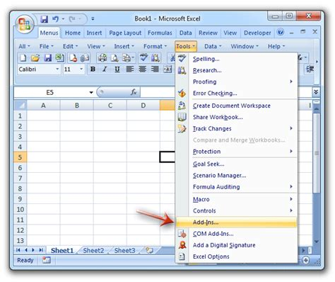 where is add ins in microsoft excel 2007 2010 2013 2016 2019 and 365