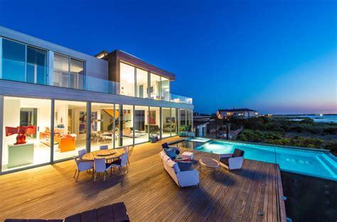 million newly built modern waterfront home  bridgehampton ny homes   rich