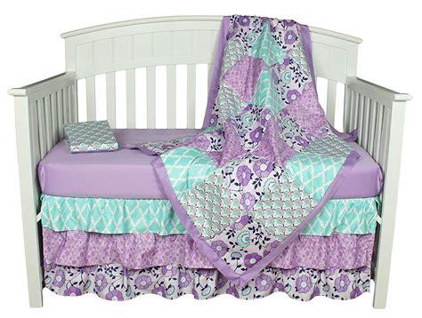 Baby Crib Bedding Set Zoe 4 Piece Purple Girls Nursery