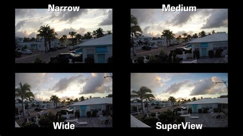 gopro  fov settings superview wide medium narrow comparison test video field  view