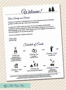 printable wedding welcome letter timeline of by With wedding welcome letter
