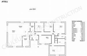 plan maison plain pied 3 chambres moderne maison moderne With plan maison de plain pied 3 chambres