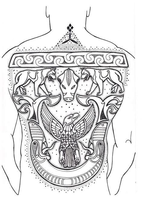 pictish  tattoo crechad picts tattoo norse