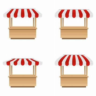 Market Stall Empty Vector Background Vecteezy Clipart