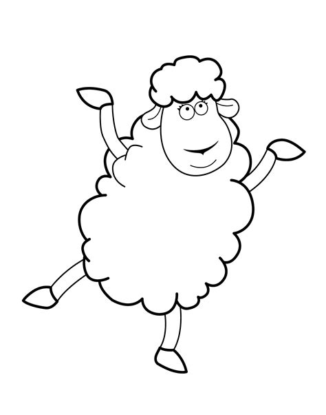 funny sheep cartoon animals coloring pages  kids