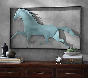 Running horse wall art pottery barn