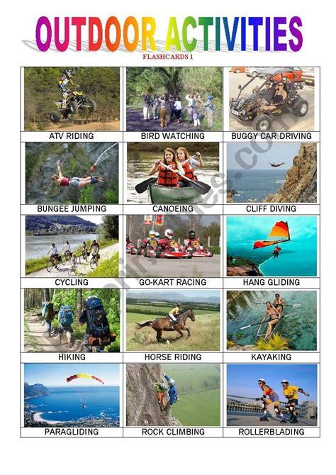 outdoor activities  esl worksheet  monicablt