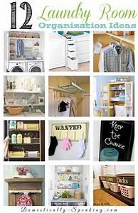 12 laundry room organization ideas domestically speaking for Laundry room organizing solutions