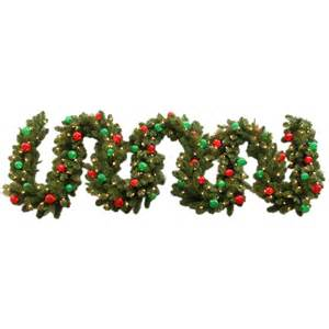 shop ge 10 in w x 18 ft l pre lit indoor outdoor artificial christmas garland with white