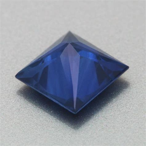 beautiful royal blue  carat loose princess cut