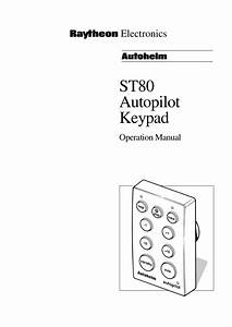 Download Free Pdf For Raymarine St80 Autopilot System Other Manual