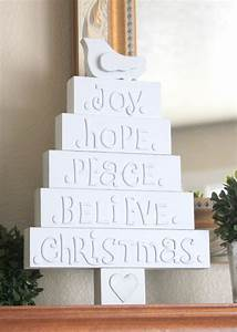 Crafty sisters wood christmas tree with letters for Wooden letters for christmas tree