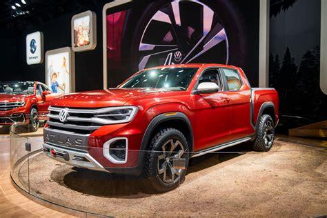 vw teases potential  pickup truck  atlas tanoak concept