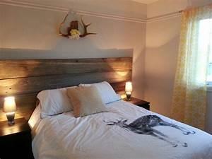 Faire Une Tête De Lit En Bois : tete de lit bois brut nestis ~ Melissatoandfro.com Idées de Décoration