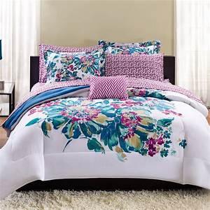 Mainstays, Floral, Bed, In, A, Bag, Bedding, Set