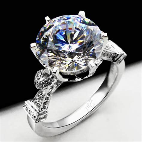 large lab created diamond engagement ring compare with the