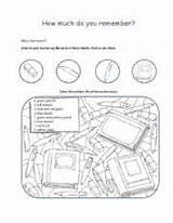 Classroom Coloring Objects Worksheet English Esl sketch template