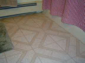 installing linoleum over tile floor