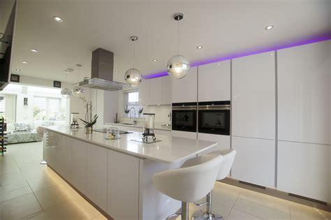 island design kitchen white high gloss german kitchen buntingford blax