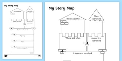 Traditional Tale Story Map Worksheet