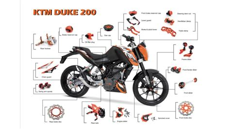 After Market Aluminum Spare Parts For Ktm Duke 200