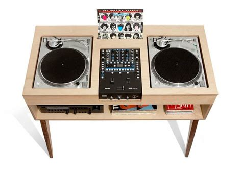 console pour entrée meuble minimaliste en bois pour platine vinyle