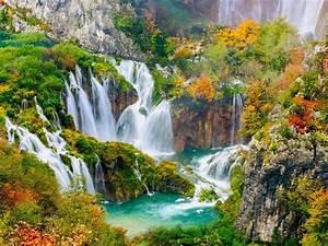 Plitvice, National, Park, Beautiful, Turquoise, Lakes
