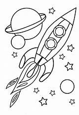 Rocket Coloring Ship Rocketship Pages Getdrawings sketch template