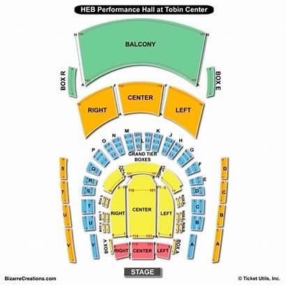 Tobin Seating Center Chart Performing Arts Charts