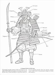 Samurai Warriors Coloring Book  015380  Details
