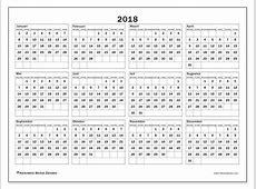 Kalenders 2018 MZ Michel Zbinden nl